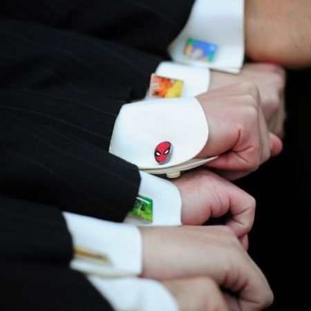Geek chic wedding inspiration super hero cufflinks