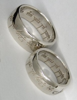 Geek chic wedding Lord of the rings theme wedding