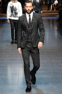 Dolce & Gabana menswear fall winter 2015 groom trends pattern