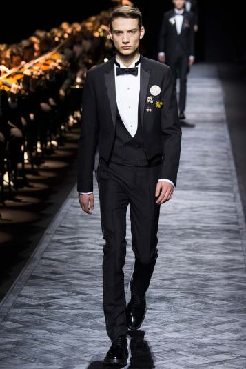 Dior Fall 2015 menswear groom trends traditional