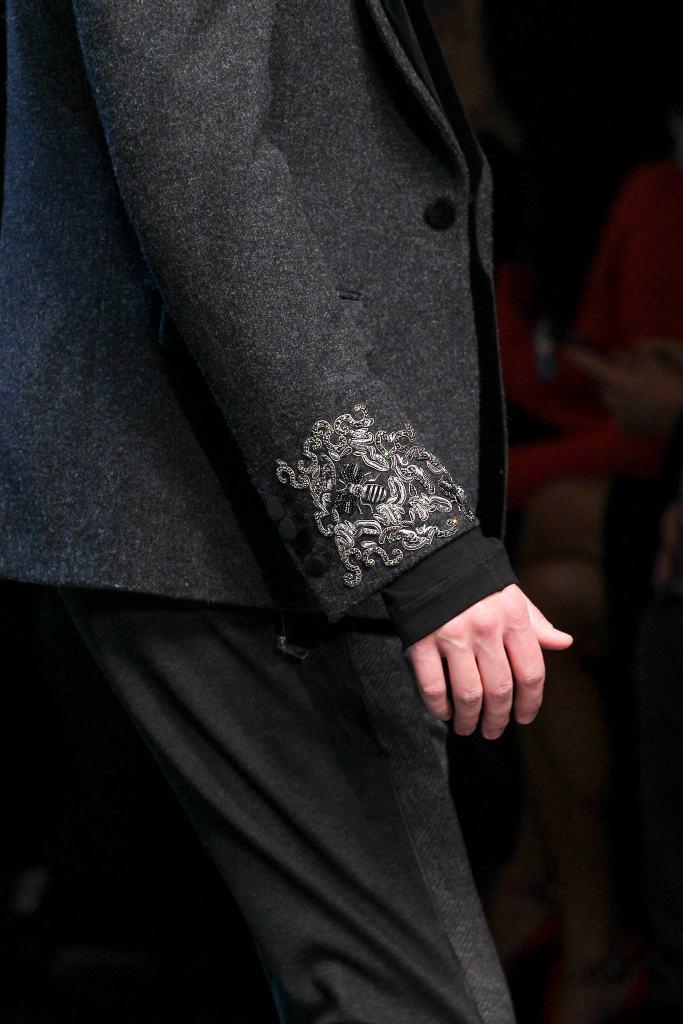 Dolce & Gabana menswear fall winter 2015 groom trends pattern