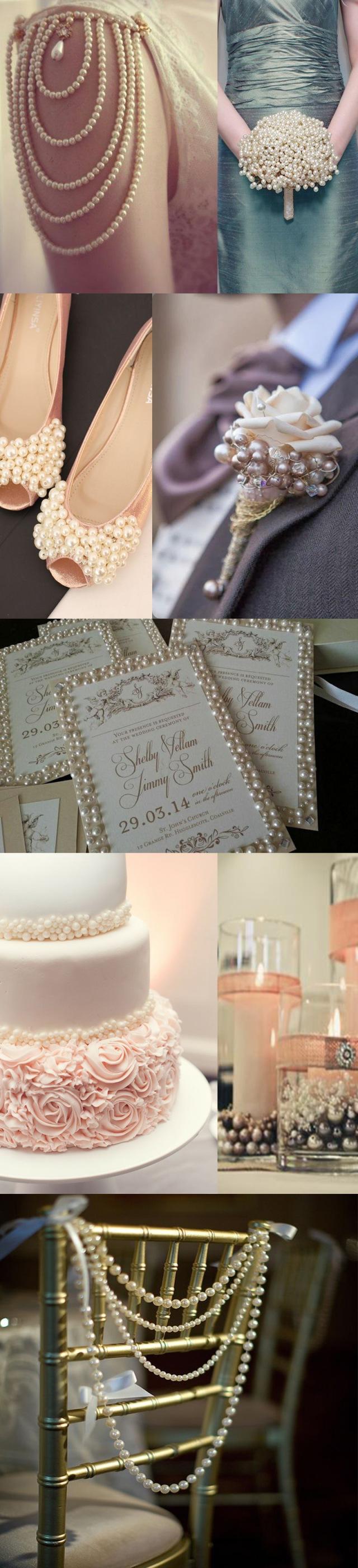 Pearl Wedding Inspiration from True Romance Weddings