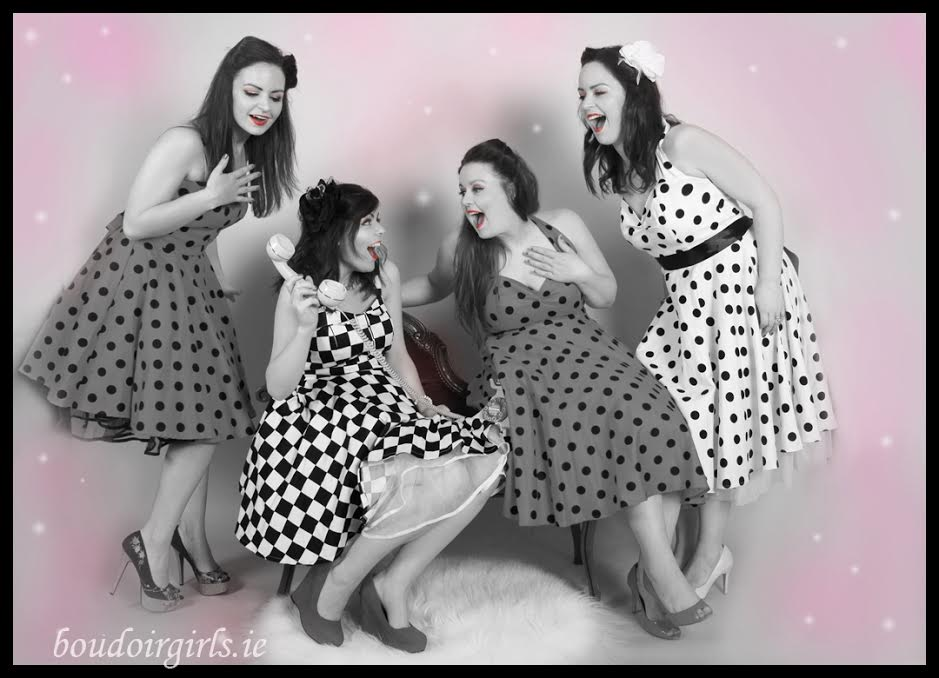 Hen party planning ireland boudoir girls themed photoshoot