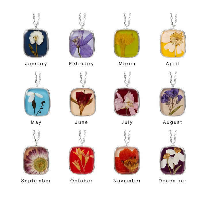 uncommon goods birth flower necklace bridesmaid gift