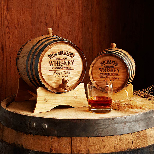uncommon goods whiskey barrel wedding gift