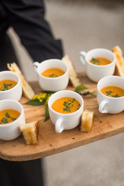 autumn wedding mini soup appetisers