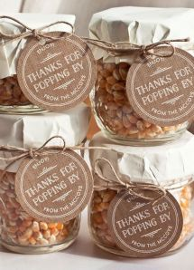 autumn wedding favours popcorn